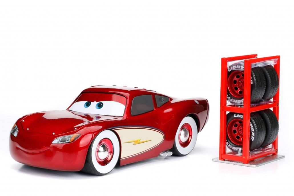 1:24 Lightning McQueen Cruising w/ Tire Rack (Cars) | Metals