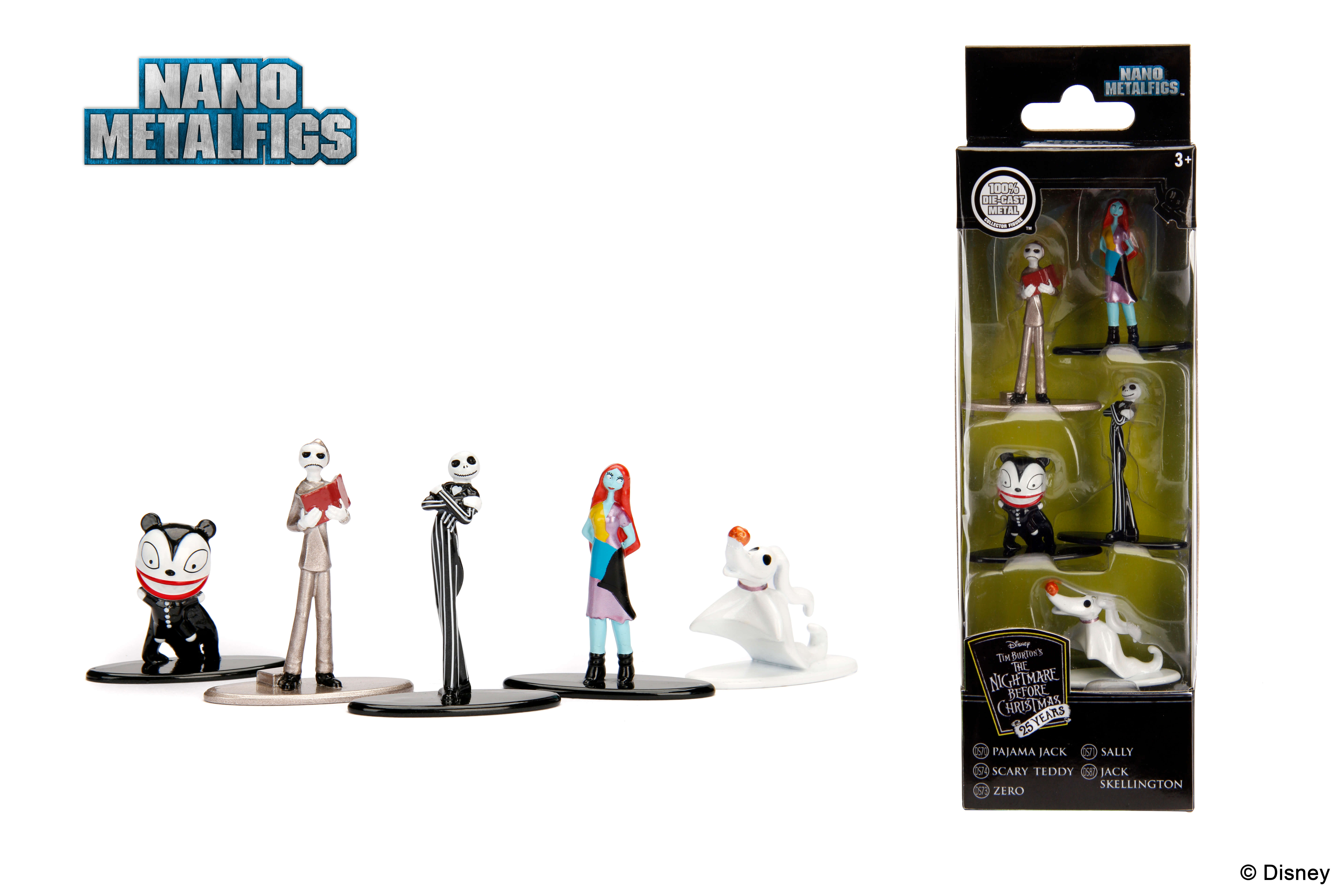 Nano Metalfigs Disney Nightmare Before Christmas 5-Pack   Metals Die ...