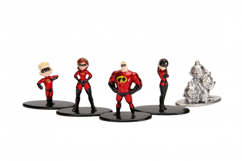 New Nano Metalfigs Disney Pixar Incredibles 2 5-Pack Die-cast Figures Jada Toys