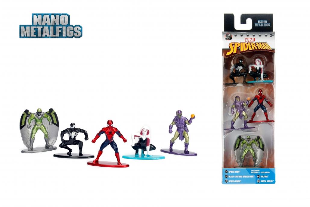 Nano Metalfigs Marvel Spider-Man w1 5-Pack | Metals Die Cast