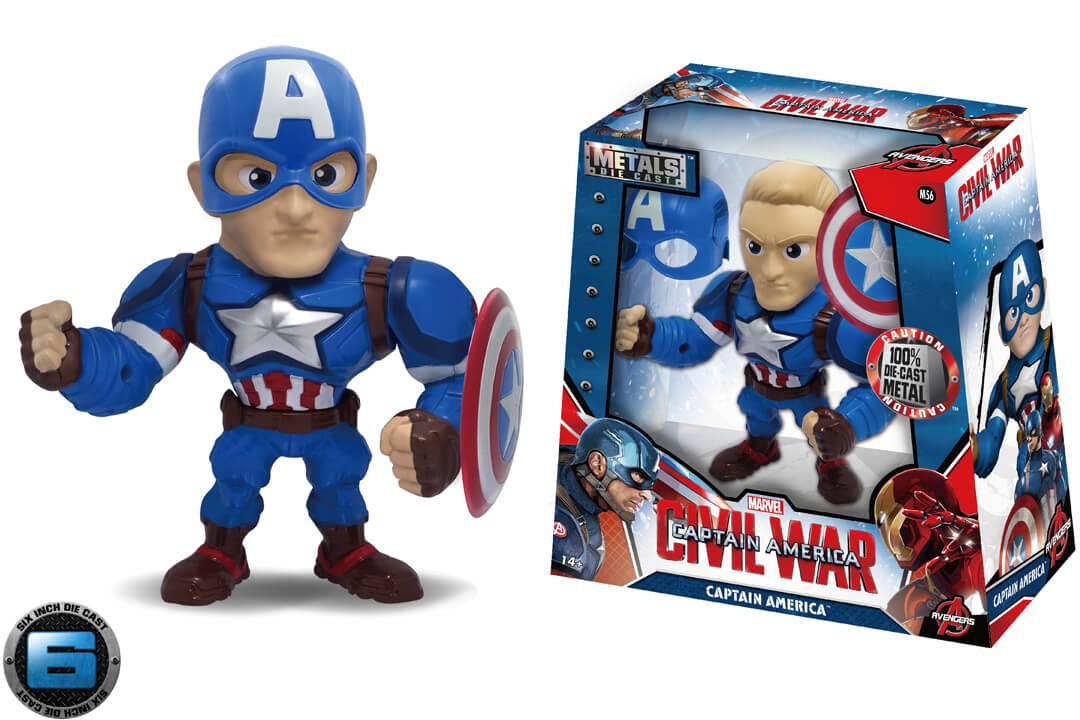 Captain America 6 inch (M56)   Metals Die Cast